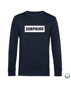Subprime Block Sweat Navy | Sizes: S - XXL | MOQ: 12